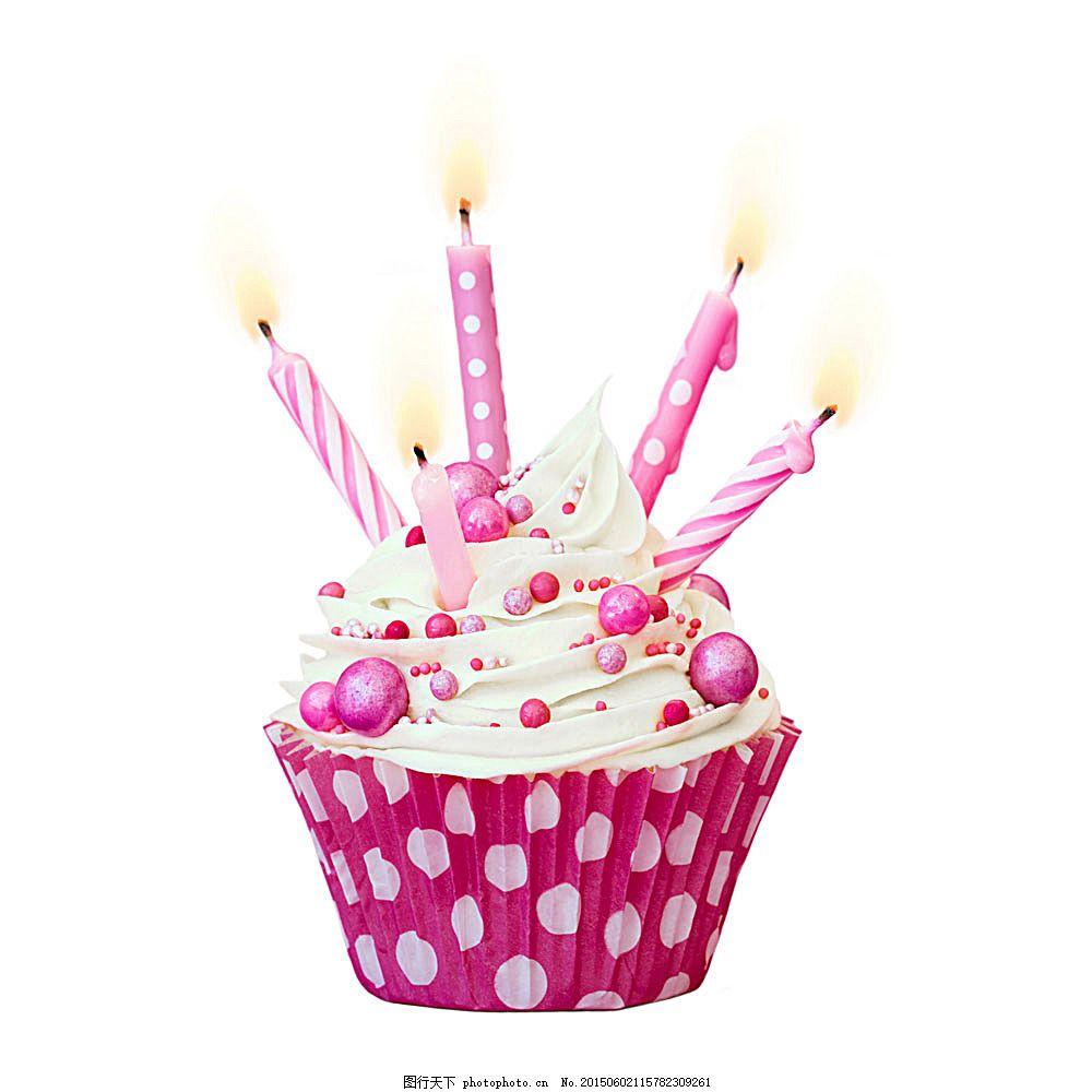 插蜡烛的生日蛋糕