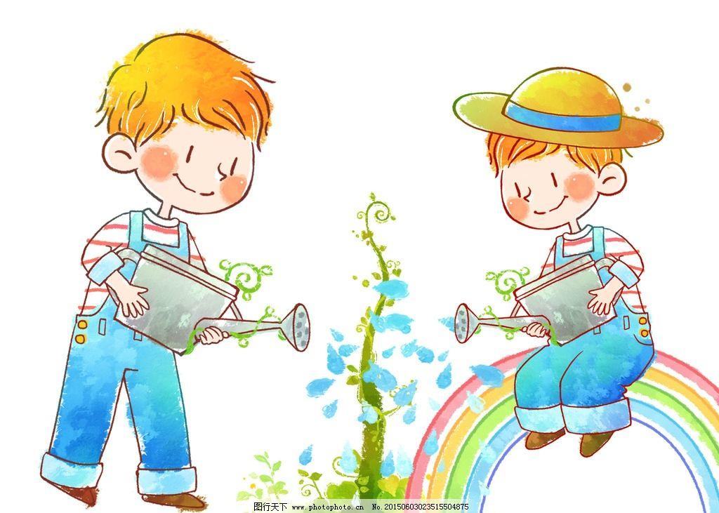 幼儿植树步骤图的图片