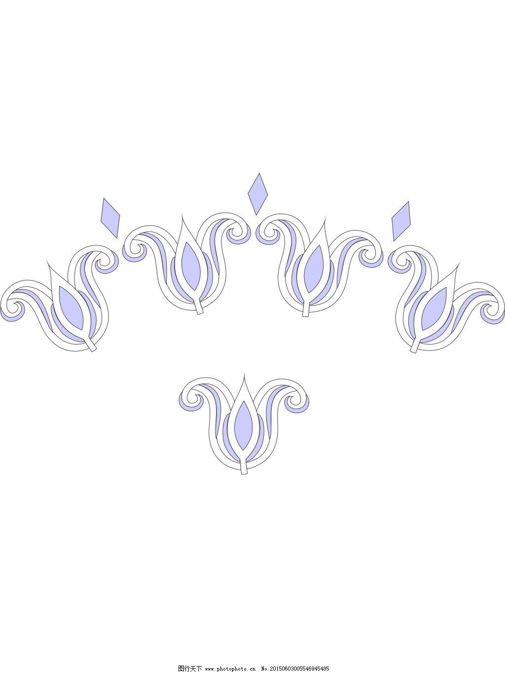 花朵图案免费下载 花边 花朵图案 简笔画 花朵图案 花边 简笔画 矢量