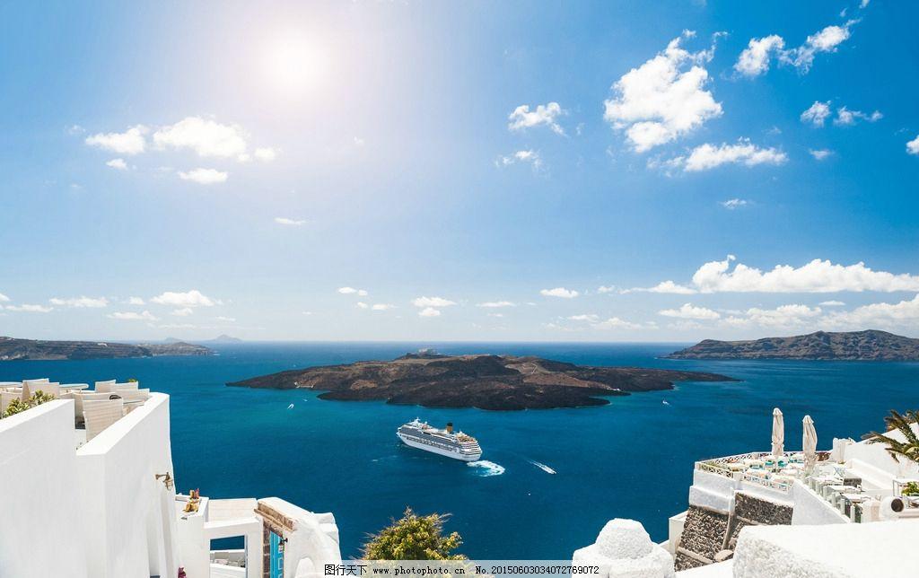 爱琴海美景 希腊爱琴海 希腊 欧洲旅游 旅游度假 白色建筑 欧式建筑