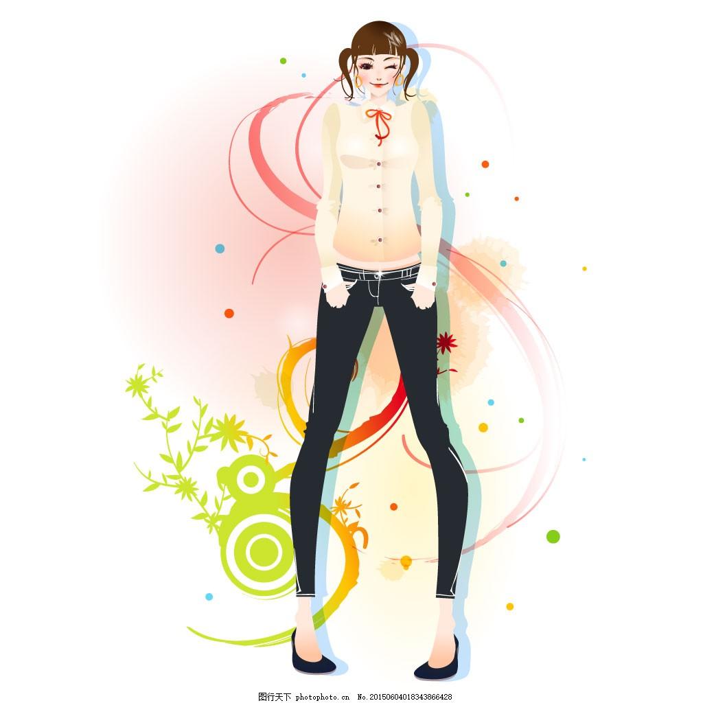 时尚卡通女性31
