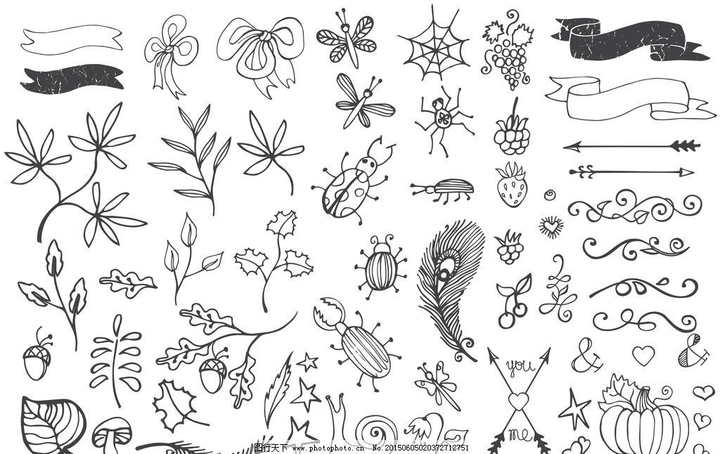 手绘花边图片