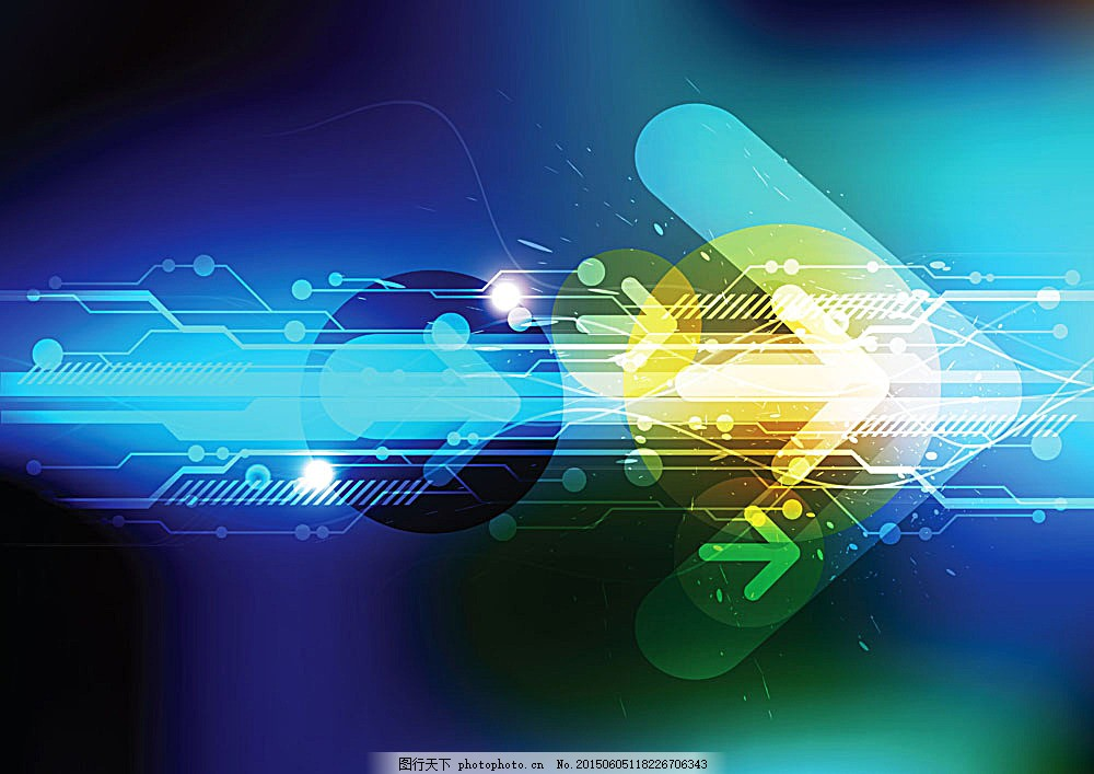 箭头 电路板 科技背景 背景 其他 生活百科 矢量素材 eps 黑色 eps