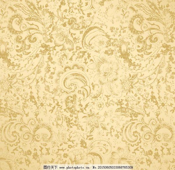欧式金色花纹底纹背景psd素材