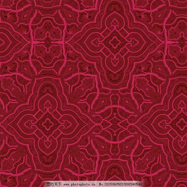 欧式典雅红复古花纹背景psd素材