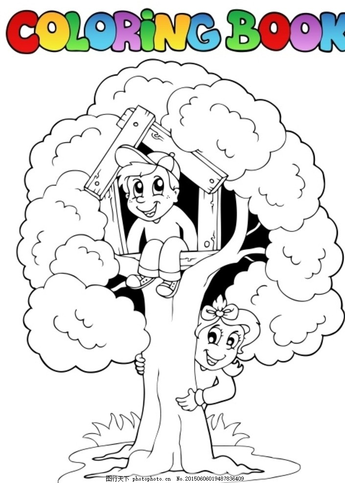 儿童简笔画 儿童上色 卡通简笔画 漫画 图标 标识 ai格式 手绘 花朵