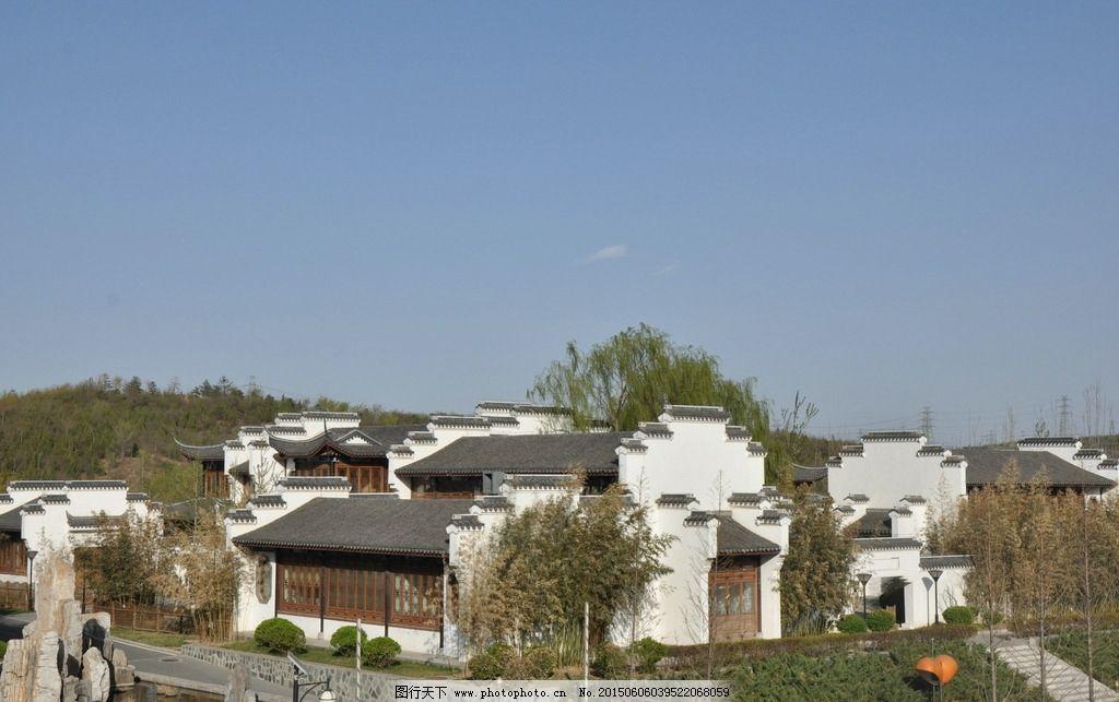 园林建筑 徽式建筑 白墙灰瓦 美丽风景 流连忘返 摄影 建筑园林 园林图片