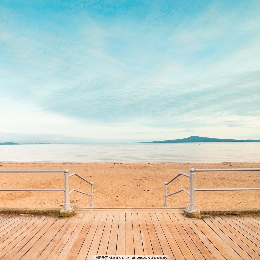 夏季清爽海洋沙滩背景 淘宝首页轮播图片背景 夏季清新唯美背景 淘宝