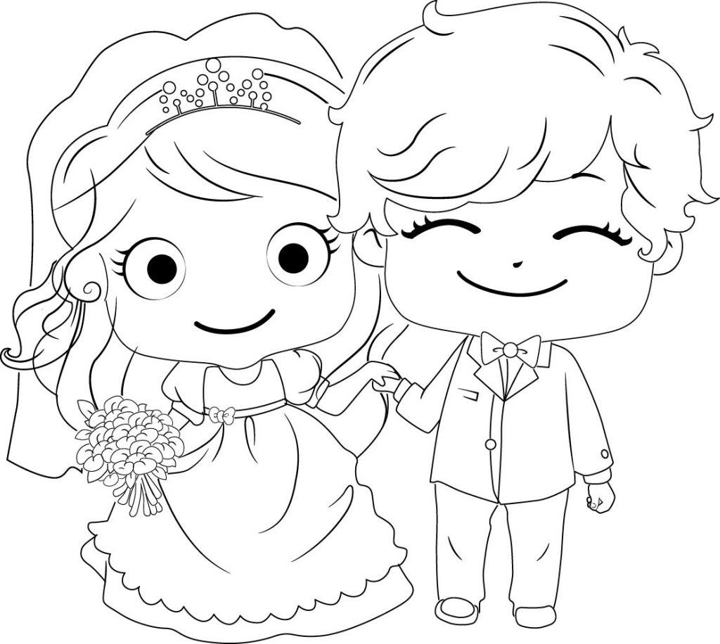 适合结婚简笔画