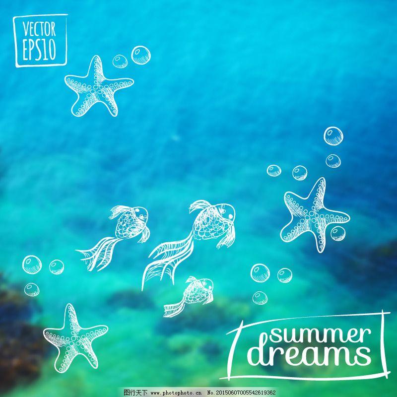 海底世界 海星 金鱼