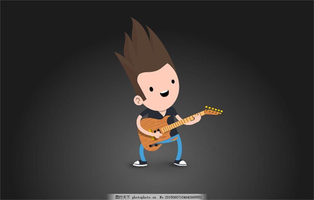 弹吉他的男生