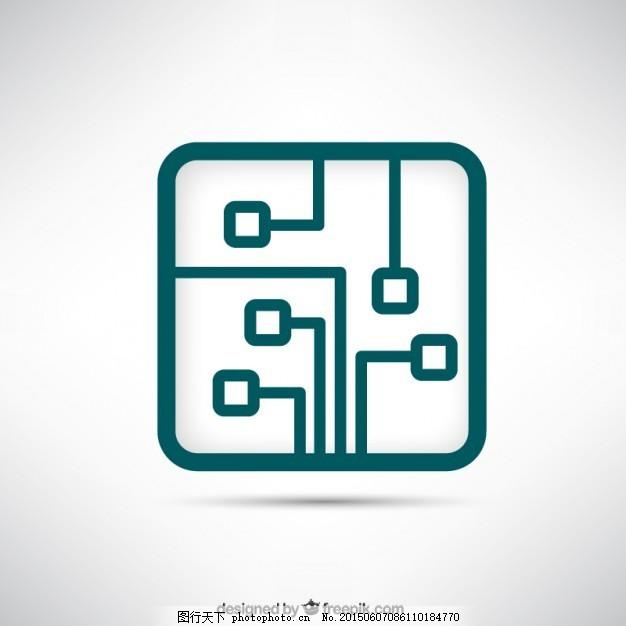 标识技术 板 企业 技术 企业形象 电路 电子 符号 标识 电路板 芯片 a