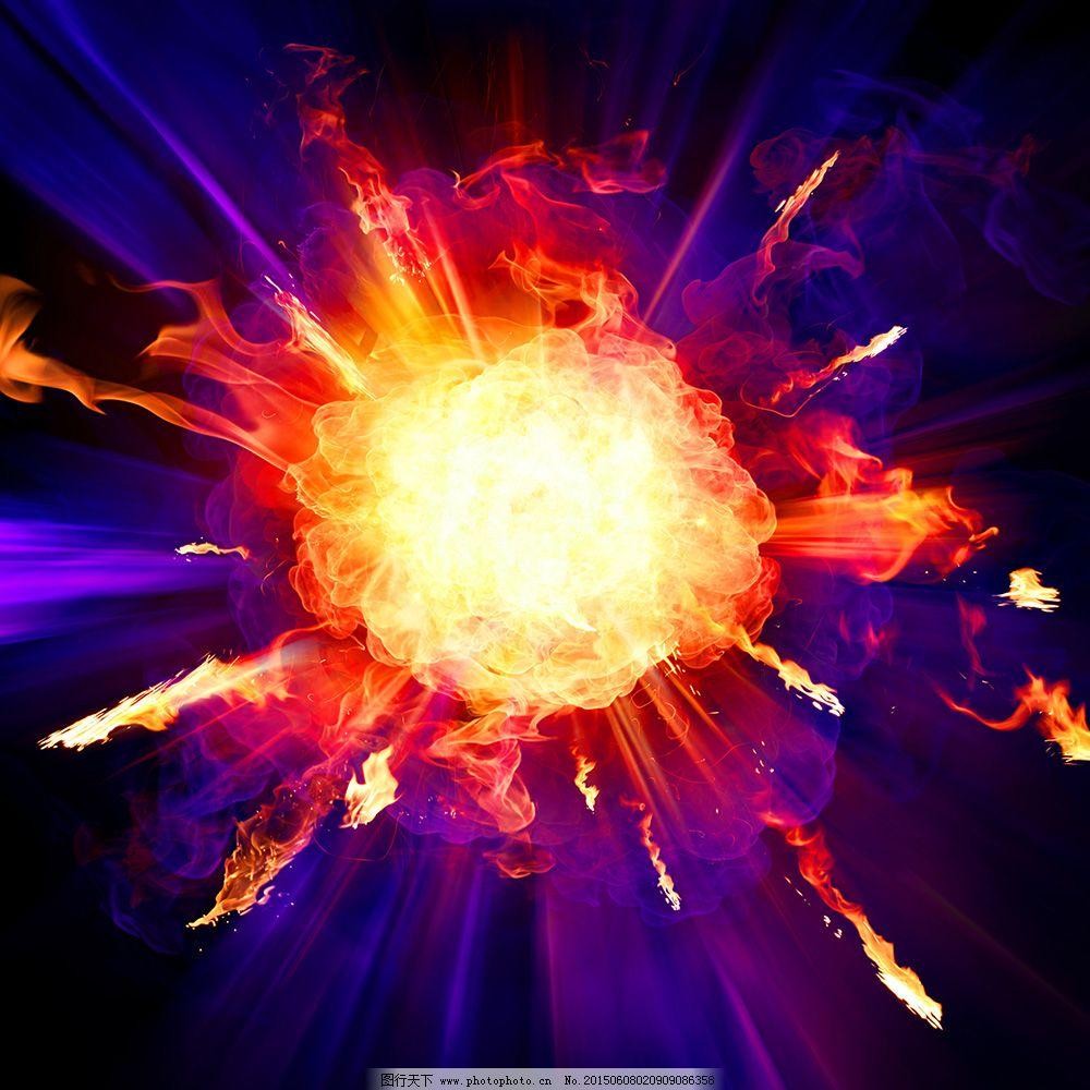 炫酷爆炸火球火球_背景图片_底纹边框_图行天下图库