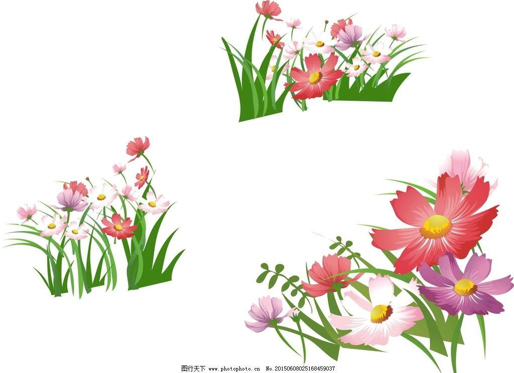矢量花草 手绘素材 矢量花朵 矢量素材 各种花朵 花藤 盛开 绽放