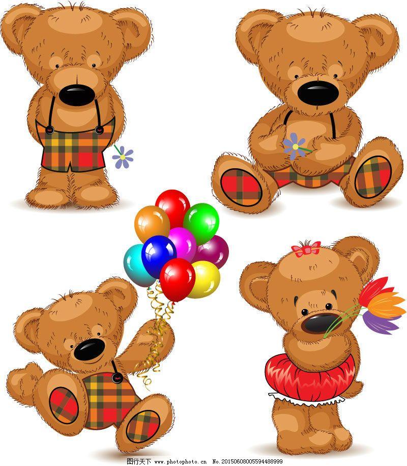 可爱泰迪熊矢量素材