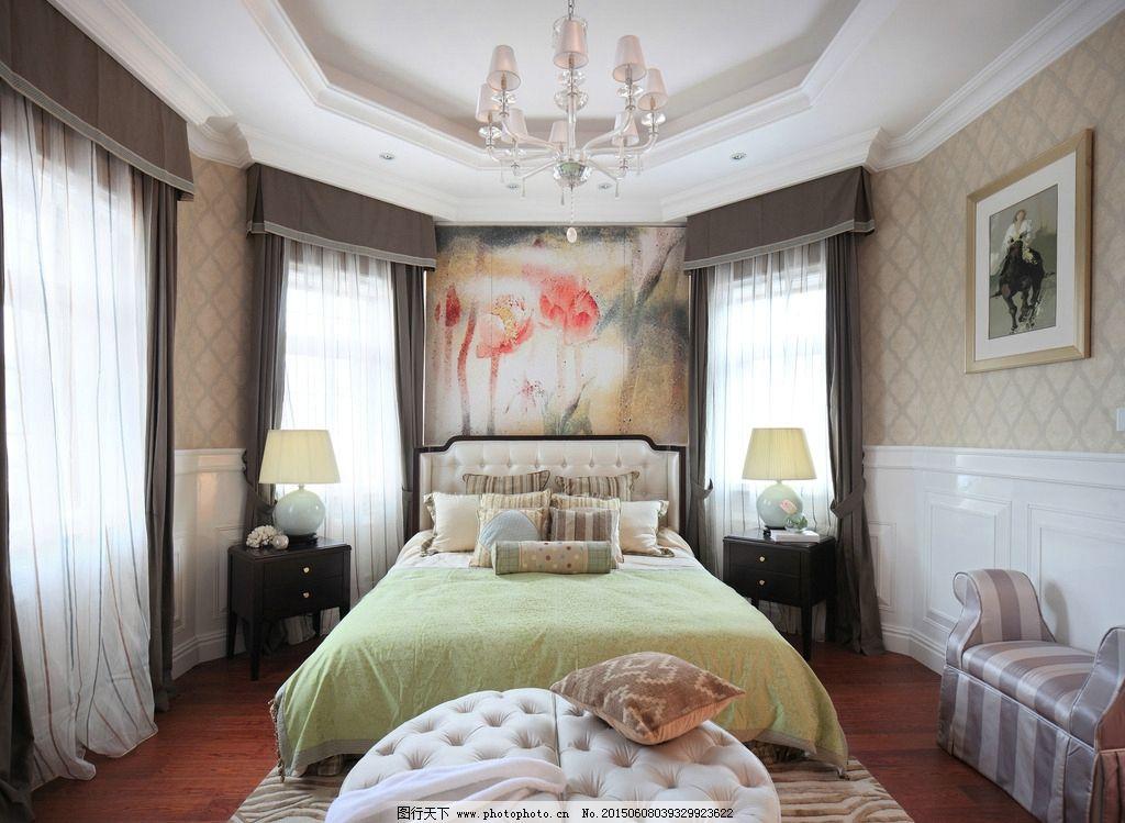 豪华      主卧 地毯 窗户 墙纸 欧洲风 欧式 简欧风格 欧式装修 别墅图片