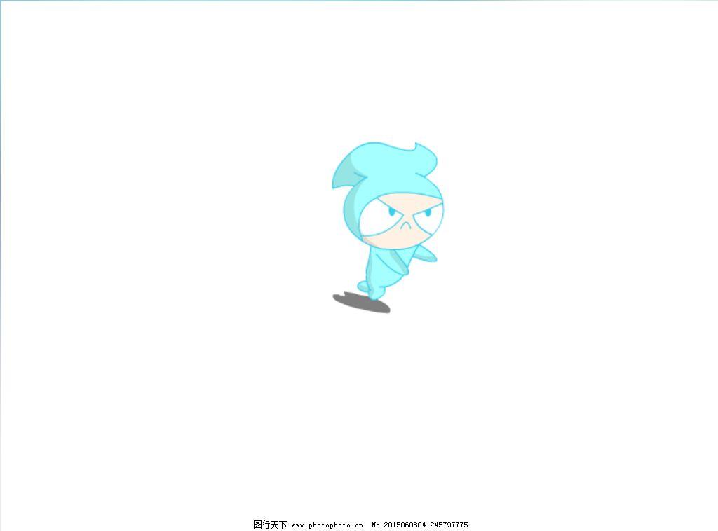 卡通人物奔跑flash素材图片