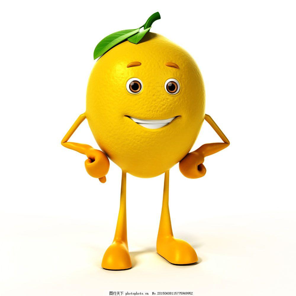 掐腰 水果 柠檬 绿叶 卡通动漫 其他类别 生活百科 图片素材     白色