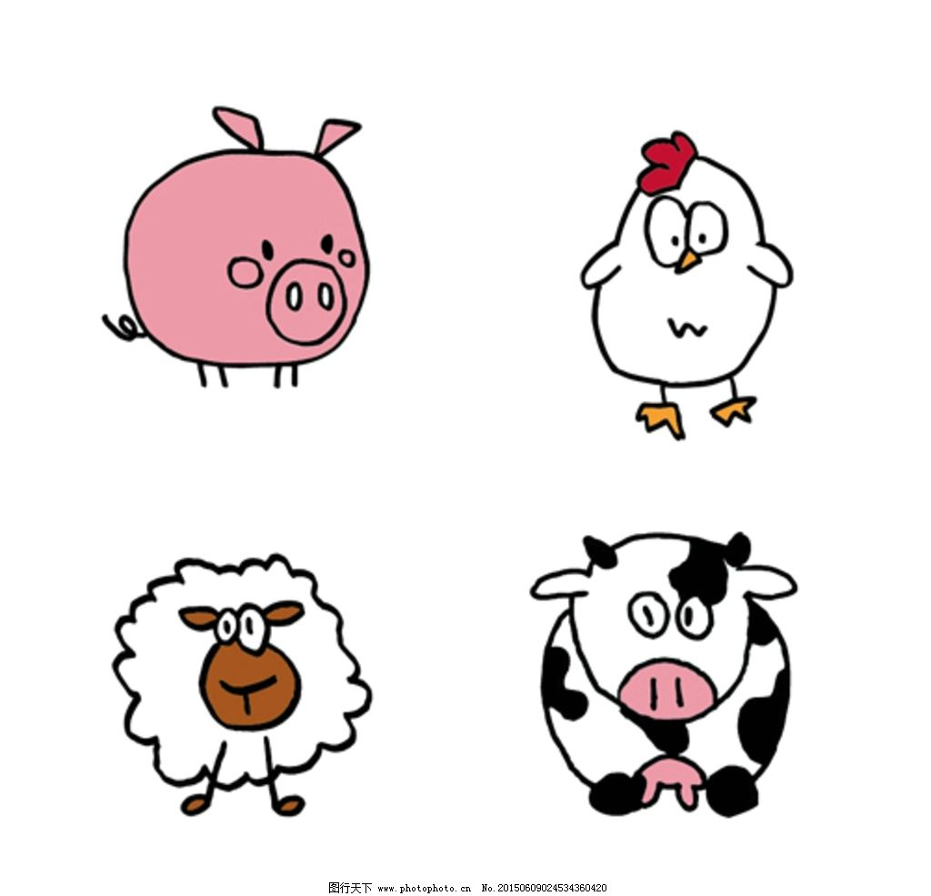 动物简笔画正面步骤