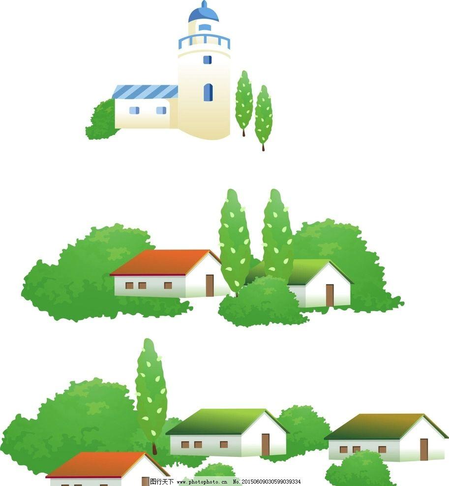 树木 房子 城堡图片