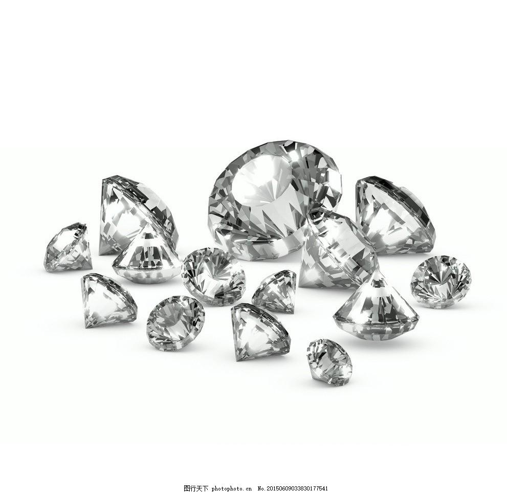 钻石 钻戒 钻石戒指 裸钻 戒托 珠宝 图片素材
