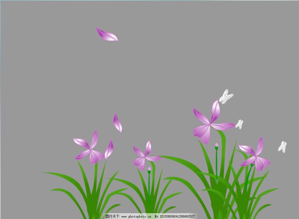 紫色花瓣飘落flash动画图片