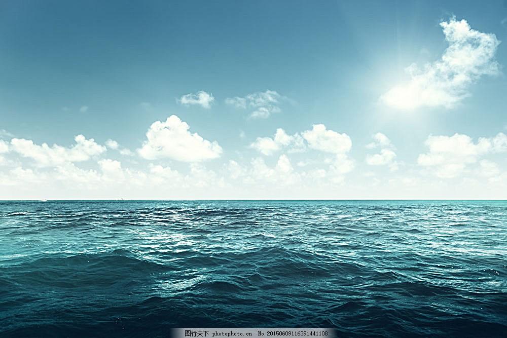 美景 风景摄影 海平面 自然风景 自然景观 图片素材     青色 天蓝色