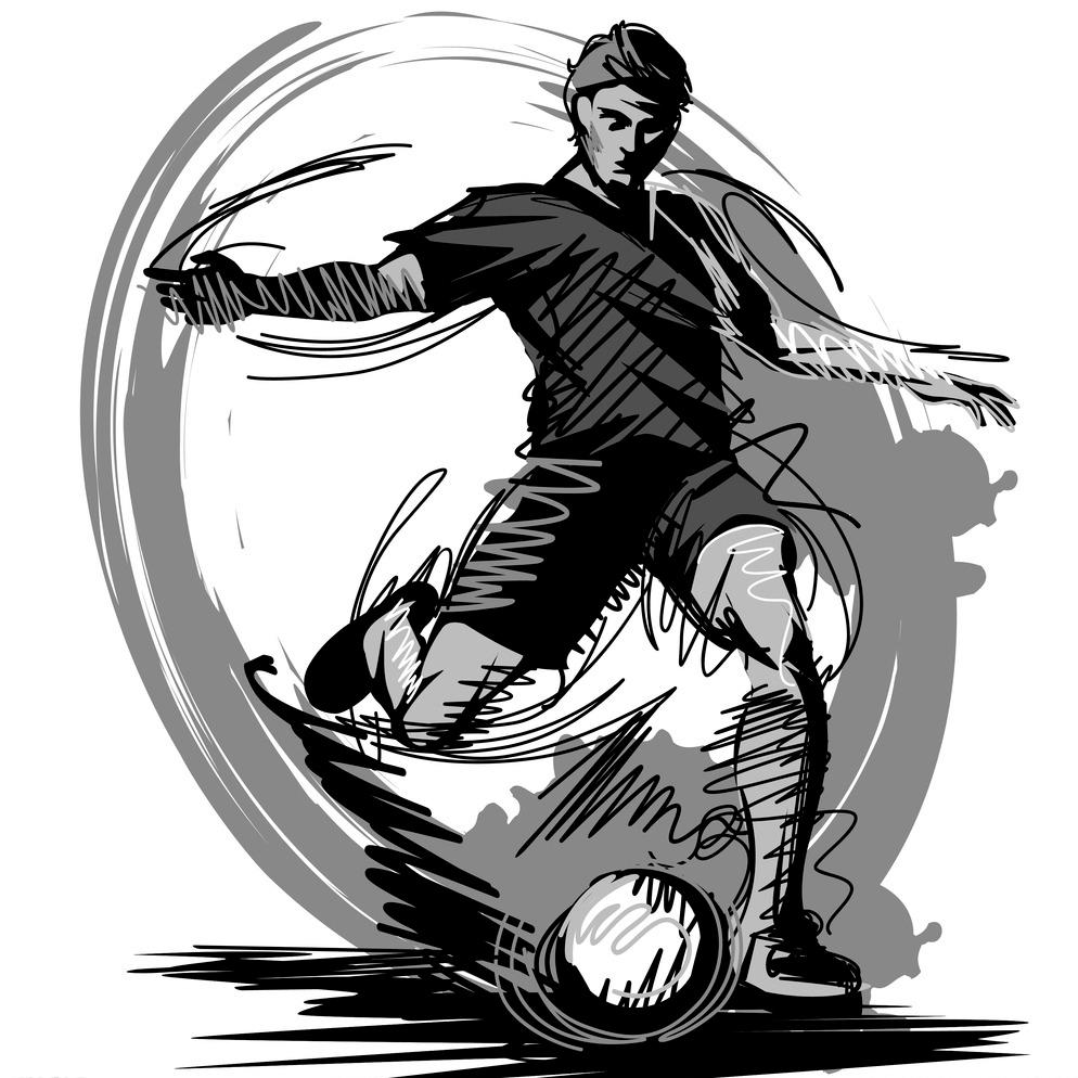 手绘足球图片