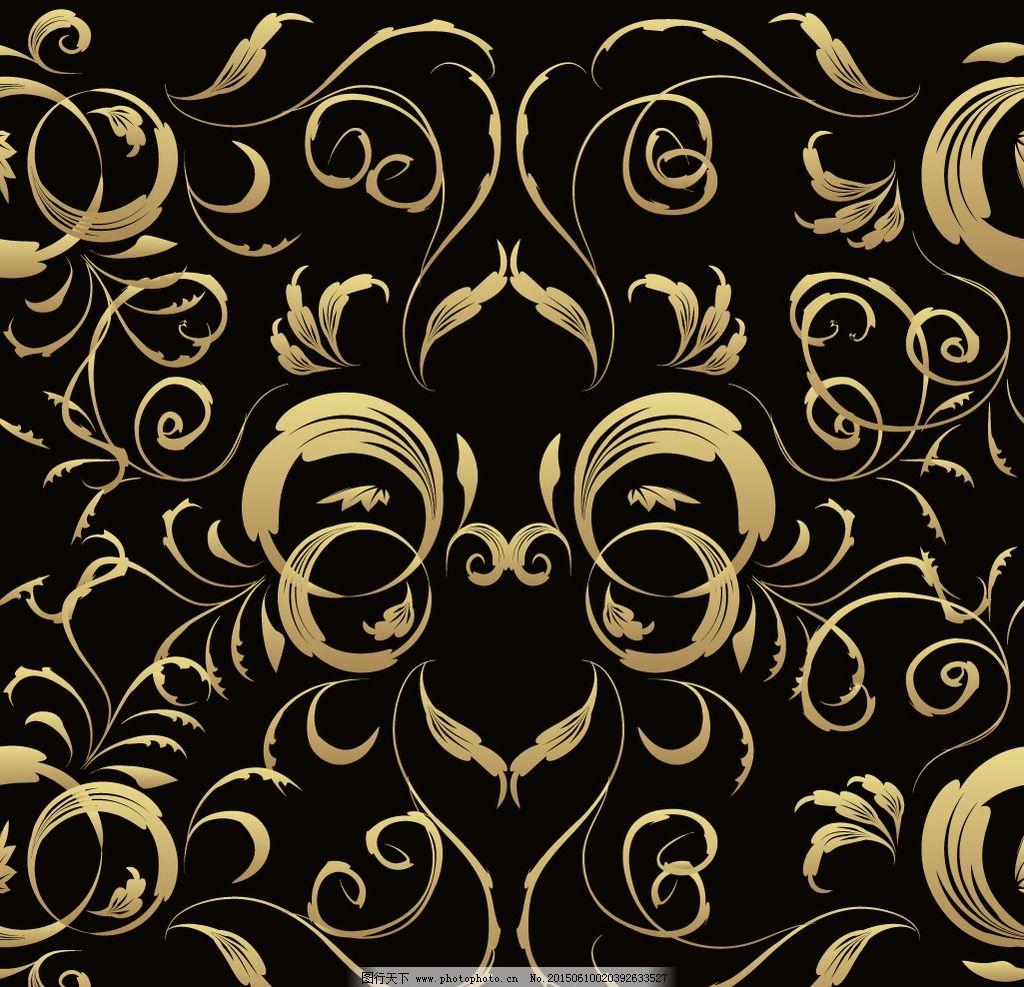 金色花纹 花纹 花边 边框