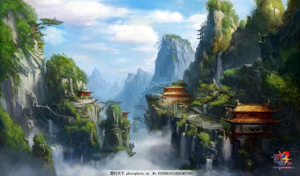 精致中国风游戏背景