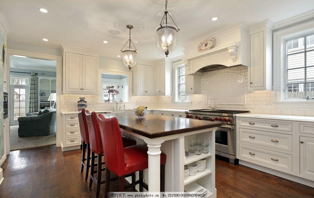厨具 冰箱 欧式厨房 开放式厨房 一体式厨房 西式厨房 现代厨房