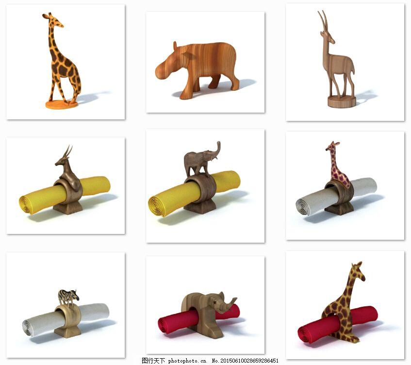 非洲动物摆件