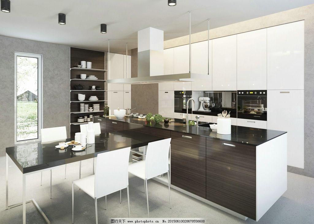 厨房 厨具 冰箱 欧式厨房 开放式厨房 一体式厨房 西式厨房 现代厨房