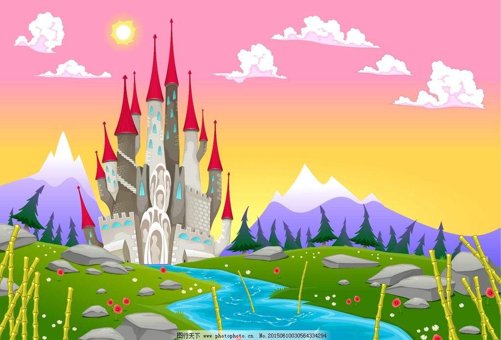 动物的边框和城堡图片