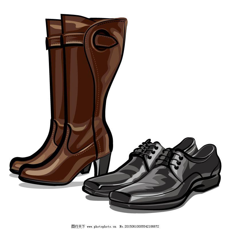 女靴与皮鞋矢量素材