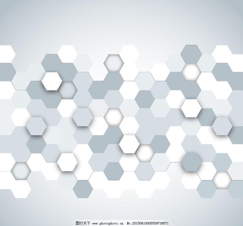 六边形蜂窝形背景矢量素材