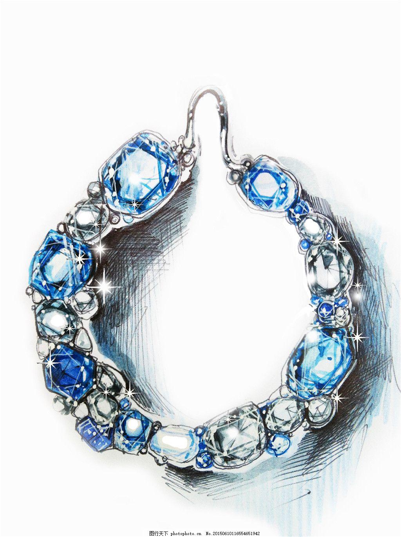 美丽手链图片设计3 手绘 珠宝 时尚 创意 潮流 新颖 白色