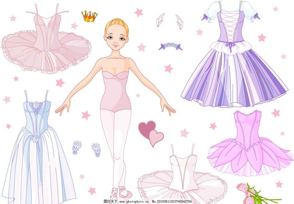 美女服装 卡通人物 女孩
