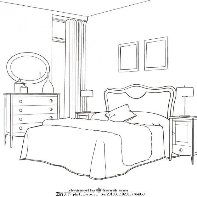 工程图 简笔画 平面图 手绘 线稿 626_626