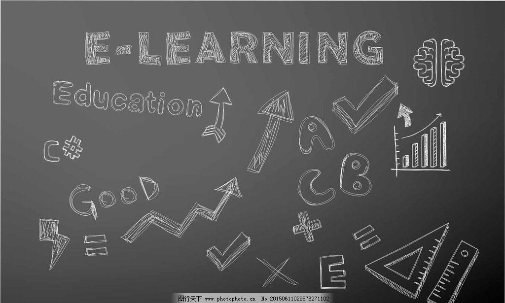 公式 字母 手绘素材 黑板画 黑板报 黑板素材 卡通 教学设施 黑板