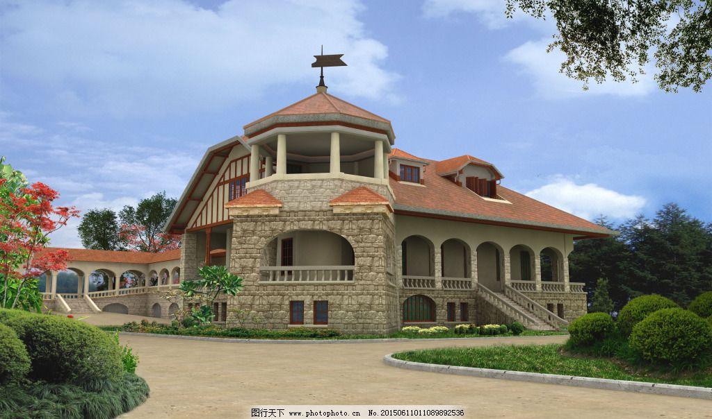 欧式别墅 欧式别墅免费下载 城堡 建筑 家居装饰素材