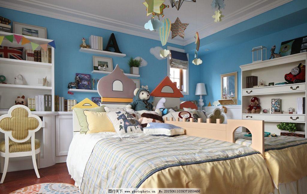 小孩房 温馨 可爱 壁画 欧式样板房 欧式古典装修 现代家居 室内设计