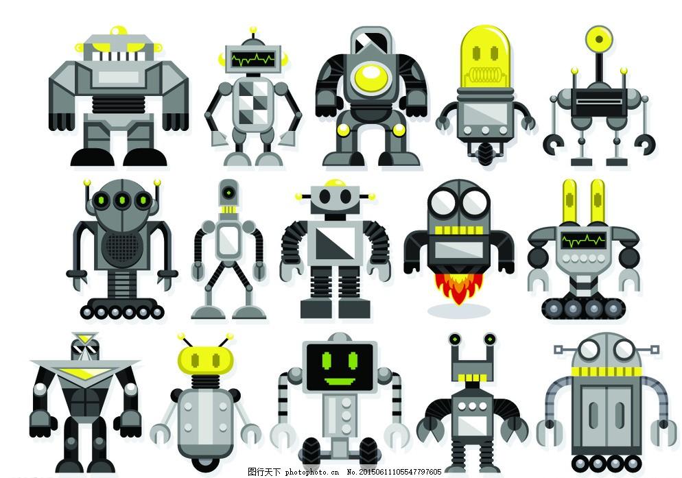机器人 现代科技 创意 手绘 科技背景 卡通动漫 卡通机器人 科技时代