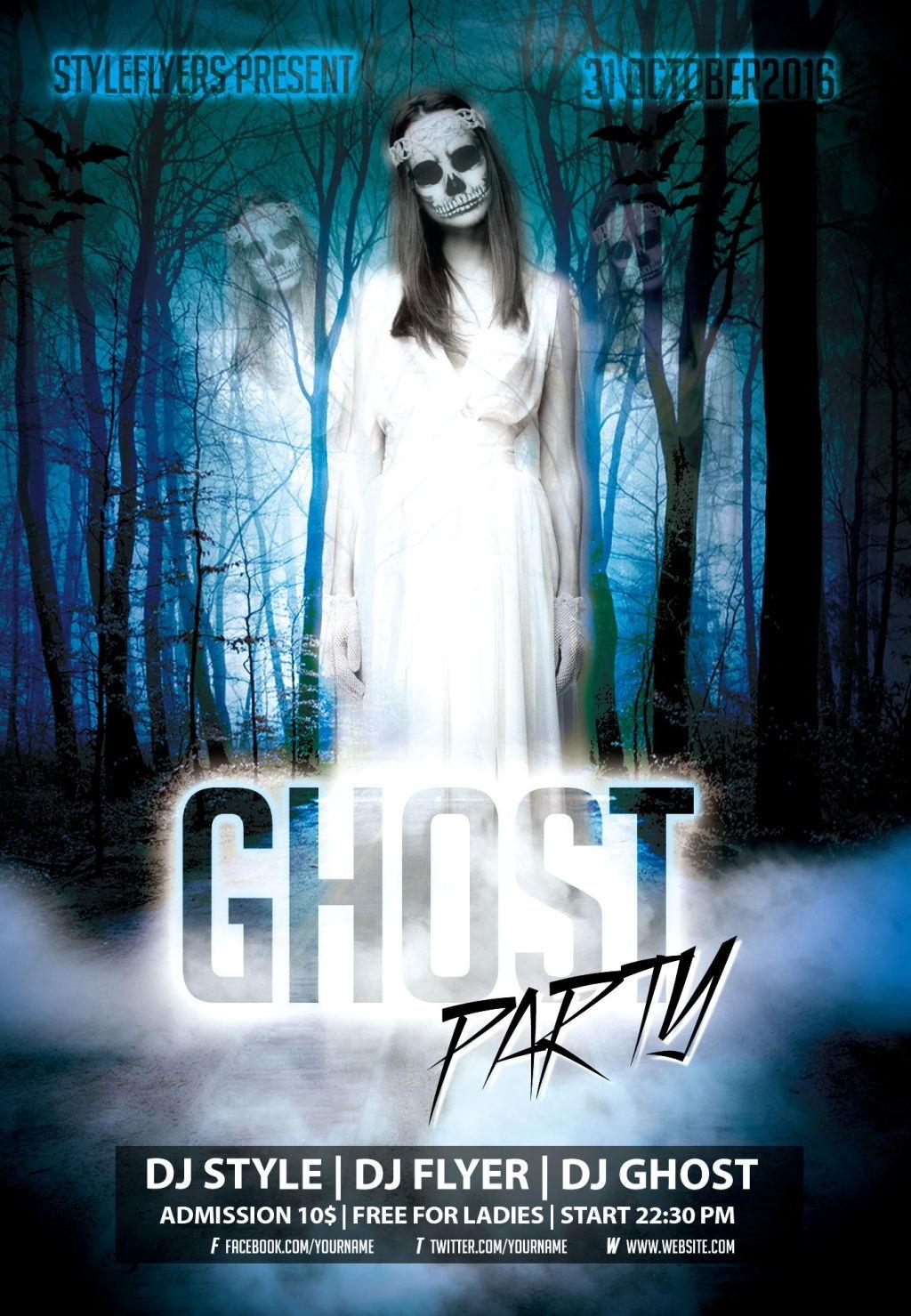 恐怖幽灵海报设计