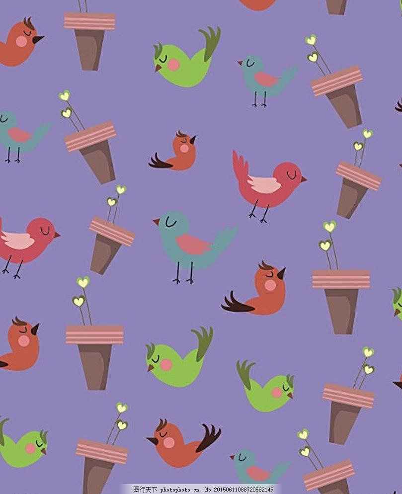 卡通壁纸 笔记本封面 手提袋花纹 桌布花纹 窗帘花纹 装饰 幼儿园贴图