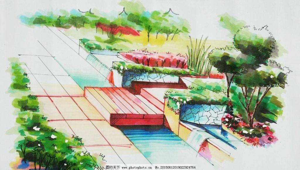 钢笔 马克笔 钢笔风景画 线条 风景画 手绘 建筑手绘 室外手绘 手绘