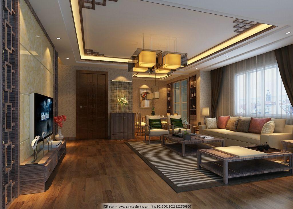 新中式客厅效果图图片图片