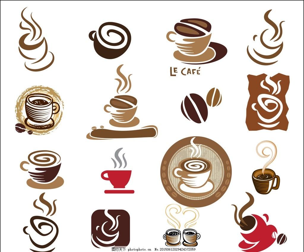 标签设计 咖啡杯 咖啡设计 咖啡手绘 咖啡图标 咖啡时间 咖啡豆 咖啡