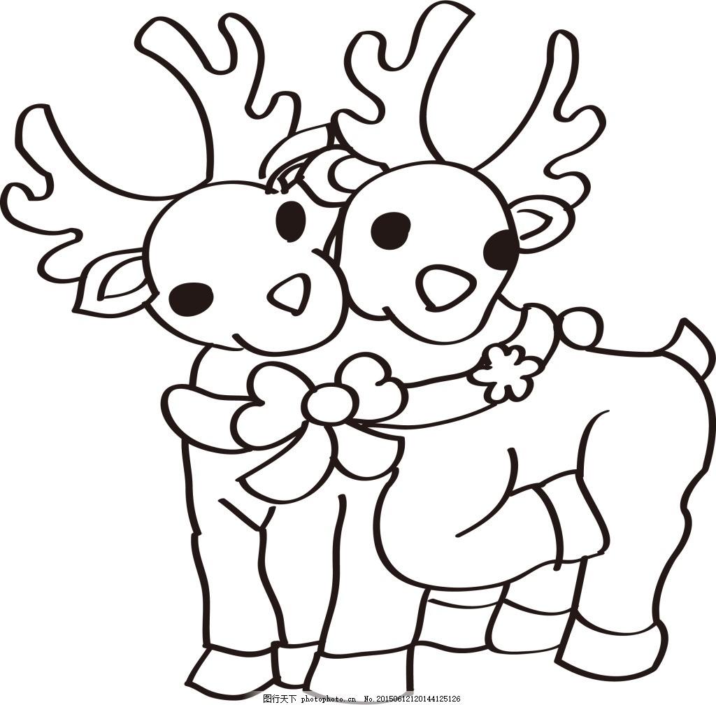 小鹿简笔画 片可爱