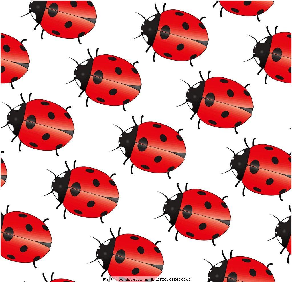 七星瓢虫图案设计图片